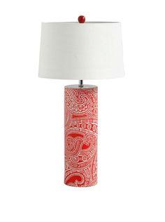 Mercana Mucura II 1-Light Table Lamp, Red at MYHABIT