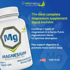 Magnesium Breakthrough Supplement 3.0 - Has 7 Forms of Magnesium Like Bisglycinate, Malate, Citrate, and More - Stress and Anxiety Relief - Natural Sleep Aid - Brain Supplement - 60 Capsules Benefits Of Magnesium Supplements, Types Of Magnesium, Brain Supplements, Chronic Stress, Stress And Anxiety, Natural Anxiety Relief, Acid Indigestion