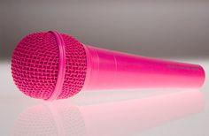 Neon Pink microphone – Lucky Voice Karaoke shop