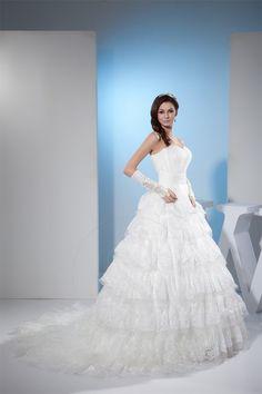 Gefaltet Leben bodenlanges Brautkleid mit Schulterfreier Ausschnitt