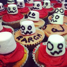 Angry ghost cupcakes for Halloween