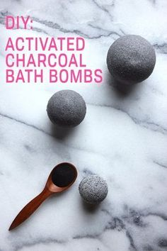 Activated charcoal—an ingredient perhaps best-known as those black specks in our Brita water filters—has recently been showing up in everything from trendy ice cream to skincare products. Beloved for its detoxing abilities, this it-ingredient is credited with cleansing skin, whitening teeth and treating acne. To get in on the skin-clearing natural wonder, we picked up some food-grade activated coconut charcoal and put it to work in marbled soap bars and bath bombs that mean business.