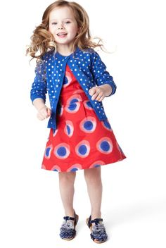 Pure Cotton Spotted Dress-Marks & Spencer