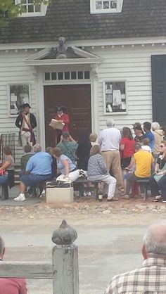 My trip to Colonial Williamsburg, hearing The Declaration of Independence read out on the street
