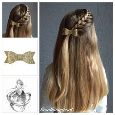 A side lace braid with a beautiful bow from Goudhaartje.nl  #halfup #halfupdo #braid #lacebraid #hair #hairstyle #longhair #beautifulhair #bow #hairbow #hairaccessories #vlecht #langhaar #haarstijl #haarstrik #strik #haaraccessoires #mooihaar #goudhaartje