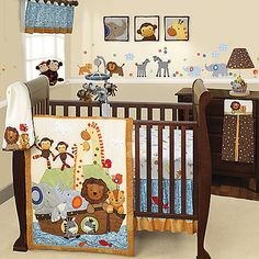 Noah Ark with Animals Nursery to Go Baby Nursery Crib Bedding Set Baby Crib Bedding Sets, Crib Sets, Nursery Bedding, Nursery Room, Girl Nursery, Zoo Nursery, Sports Bedding, Cradle Bedding, Girl Bedding
