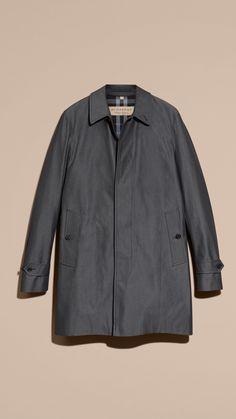 Cotton Gabardine Car Coat True Indigo | Burberry