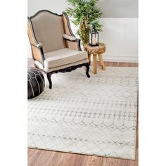 nuLOOM Geometric Moroccan Beads Grey Rug (6'7 x 9') - 18310118 - Overstock.com Shopping - Great Deals on Nuloom 5x8 - 6x9 Rugs