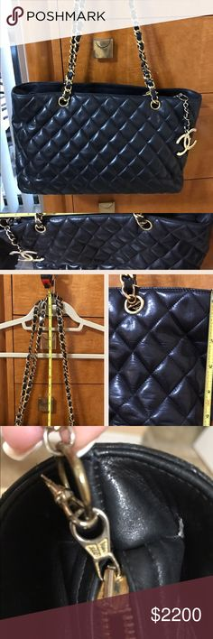 Chanel authentic handbag Vintage Chanel bag. Excellent condition. 100% authentic Chanel. It was my mother's. No bag, no card. Thanks CHANEL Bags Shoulder Bags