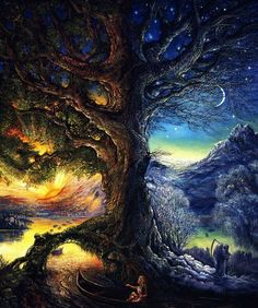 Tree of Time / River of Life - by Josephine Wall #Trippy #Psychedelic #Surreal https://trippy.me