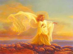 Greg Olsen - The Messenger - Christ-Centered Art Greg Olsen Art, Angel Spirit, Holy Spirit, Angel Guide, I Believe In Angels, Lds Art, Prophetic Art, Angels Among Us, Angels In Heaven