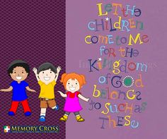 Lets draw our children to the presence of God. For christian arts and crafts: store.memorycross.com