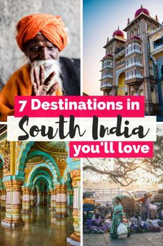 Thinking of traveling to India? Here you have all the info about the best destinations in South India that you can't miss on your next trip to India. India Travel Guide, Asia Travel, Wanderlust Travel, Thailand Travel, Bali, Romantic Destinations, Amazing Destinations, Travel Destinations In India, Backpacking India