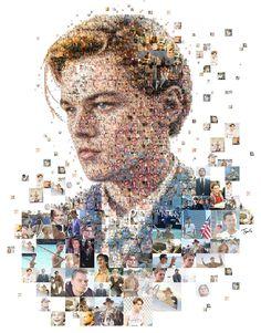 Designer cria posters de personalidades em Mosaico utilizando objetos…