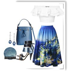 Around the world series: SANTORINI by say-dhax on Polyvore featuring Alexander McQueen, Chicwish, Kim Kwang, Furla, Bling Jewelry and Bomedo