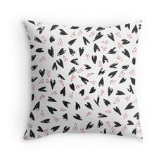 Black and red hearts. Doodle hearts. Indie, boho, love. http://www.redbubble.com/people/linepush/works/20154811-pop-art-hearts-doodle-cute-black-and-red?p=throw-pillow