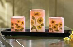 sunflower candles