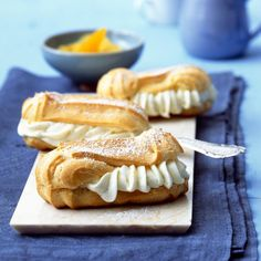 Those Fabulous, Decadent French Pastries - Useful Articles Eclairs, Bakery Muffins, French Pastries, Marzipan, Custard, Food Inspiration, Baking Recipes, Sweet Tooth, Sweets