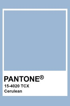 I love this color of blue because it is a very cold color which could be paired with many other colors. Pantone Azul, Paleta Pantone, Pantone Tcx, Pantone Swatches, Pantone Colour Palettes, Color Swatches, Pantone Color, Pantone Cmyk, Blue Colour Palette