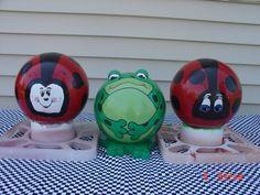 Ladybug Bowling Balls for Sale | bowling ball frog and ladybugs | Garden stuff