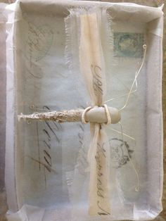 Script Moth- Mixed media- Caroline Lingwood
