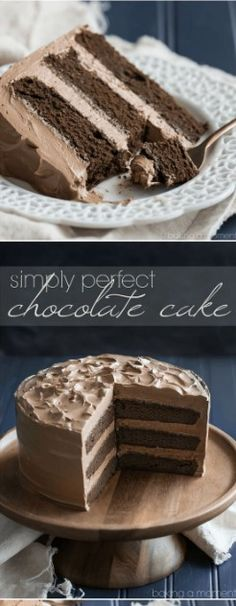 Simply Perfect Chocolate Cake – Cuisine Village Menu Simply Perfect Chocolate Cake This is THE BEST chocolate cake recipe out there! Easy, one-bowl recipe, moist and melt-in-your-mouth, with tons of deep chocolate flavor! Homemade Chocolate, Chocolate Flavors, Chocolate Recipes, Perfect Chocolate Cake, Amazing Chocolate Cake Recipe, Cake Chocolate, Food Cakes, Cupcake Cakes, Baking Cakes
