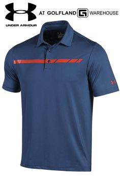 c26a1f324 Under Armour Coldblack Forged Stripe polo  underarmour  polo  golfpolo   blue  stripe