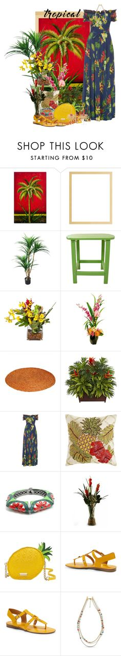 """""""Tropical"""" by agolm ❤ liked on Polyvore featuring Hanover, Designs by Lauren, Isolda, Pier 1 Imports, Kate Spade, Franco Sarto, New Directions and Annette Ferdinandsen"""