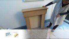 méthode pour créer une cheminée en trompe l'œil, avec un peu de bois et de patience. Wm.