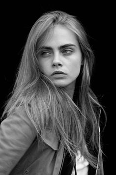 beautiful, beauty, black and white, blonde, cara, delevingne, fashion, girl, hair, indie, model, perfect, photography, portrait, retro, teen, vintage