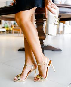 Sandália Dourada de