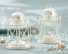 Lighthouse Tea Light Candle Favors plus more candle favors for your wedding, bridal shower or special event. Your guests will be delighted with these lighthouse wedding favors. Nautical Wedding Favors, Candle Wedding Favors, Candle Favors, Tealight Candle Holders, Wedding Decorations, Wedding Sparklers, Beach Table Decorations, Lantern Decorations, Lantern Centerpieces
