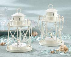 "myweddingfavors.com  ""By the Sea"" Lighthouse Tea Light/Place Card Holder"