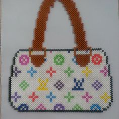 Louis Vuitton inspired handbag hama perler beads by  hamabead_creations