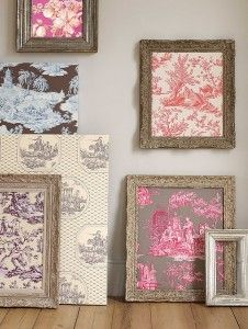 framed wallpaper...adding texture without it being too much