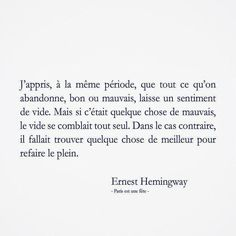 Les mo(men)ts qui touchent ! Some Quotes, Daily Quotes, Words Quotes, Quotes To Live By, Sayings, Favorite Words, Favorite Quotes, Best Quotes, Ernest Hemingway