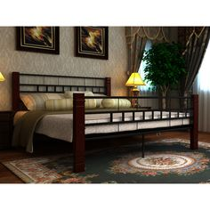 Only US$288.76, black Bed Metal Black and Red Brucciato with Mattress 140 x 200 cm - LovDock.com