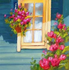 """Daily Paintworks - """"Sun and Shadow Porch"""" by Libby Anderson"""