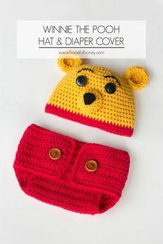 Winnie The Pooh Inspired Hat & Diaper Cover - Tutorial ❥ 4U hilariafina  http://www.pinterest.com/hilariafina/