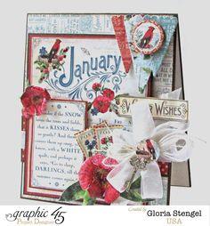 Graphic 45 Time To Flourish January Card 2 - Scrapbook.com