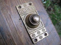 Late Victorian Style Brass Door Bell Push Press Old Vintage Edwardian Style Oak | eBay