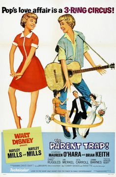Directed by David Swift.  With Hayley Mills, Maureen O'Hara, Brian Keith, Charles Ruggles. Teenage twin sisters swap places and scheme to reunite their divorced parents.