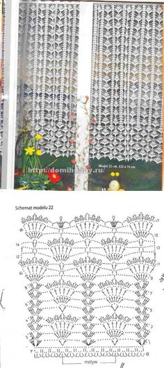 Captivating All About Crochet Ideas. Awe Inspiring All About Crochet Ideas. Filet Crochet, Crochet Chart, Thread Crochet, Crochet Motif, Crochet Doilies, Crochet Flowers, Crochet Stitches, Crochet Curtain Pattern, Crochet Curtains