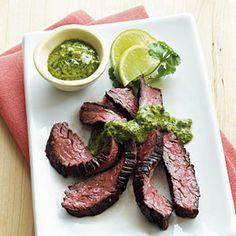 Skirt Steak with Chimichurri Sauce | CookingLight.com