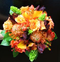 Perfect fall wedding with all exotics    Designed by Flowers by Antonella