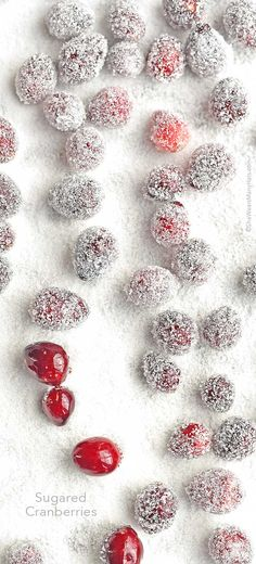 This Sugared Cranberries are so very easy and make a gorgeous addition to any dessert, or enjoy them alone as a snack!
