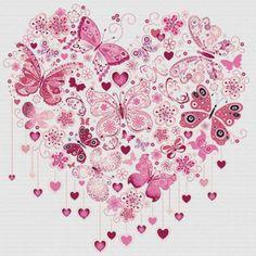Etamin Şablonları Kalp Desenleri 9