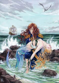 Mermaid rescue by nao--ren.deviantart