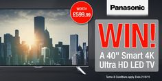 "#Panasonic 40"" Smart 4K UHD LED TV competition - Winner: ruairc_com"