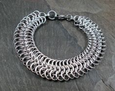 Persian Chainmaille Chain Bracelet Brass by LinksToMooreElegance